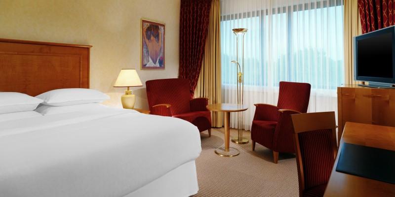 Zimmeransicht im Sheraton Essen Hotel