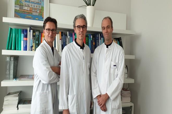 Das Team der Chefärzte (v.l.): Priv.-Doz. Dr. Oliver Bruder, Prof. Dr. Heinrich Wieneke und Dr. Thomas Schmitz.
