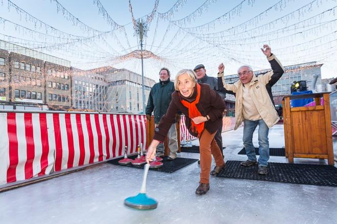 War 2019 bei Gruppen sehr beliebt: Das Eisstockschießen.