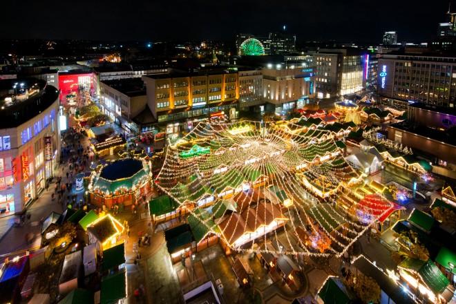 Foto: Der Weihnachtsmarkt von oben