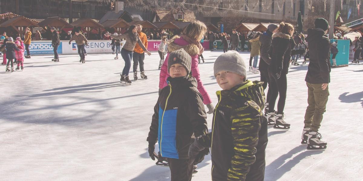 ESSEN ON ICE punktete auch bei Henri (links) und Louis.
