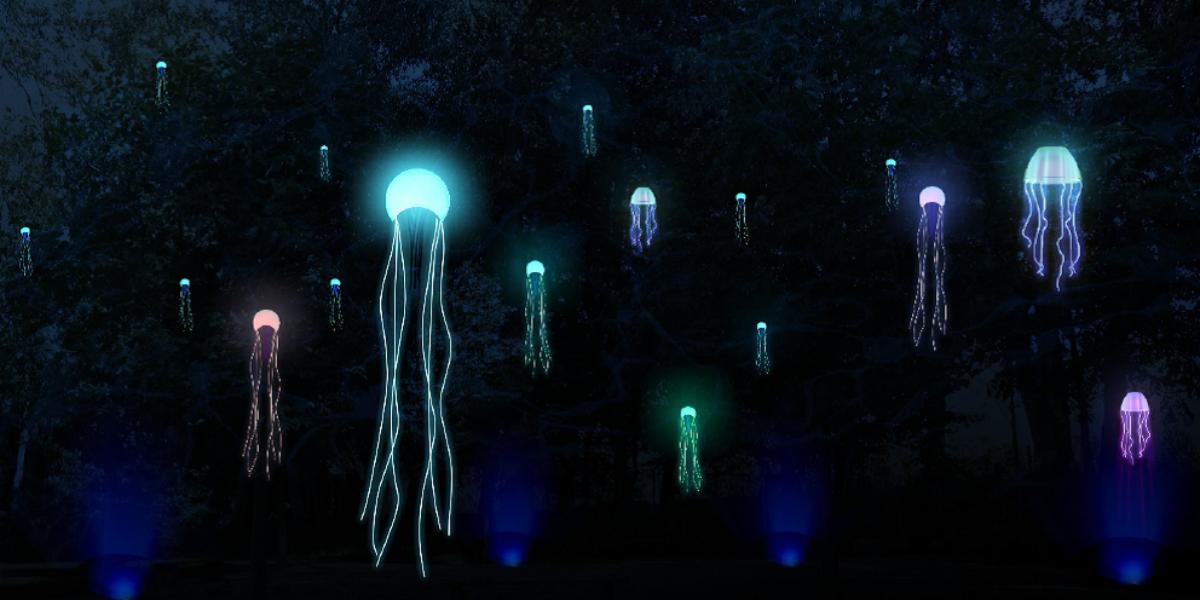 Leuchtende Tintenfische