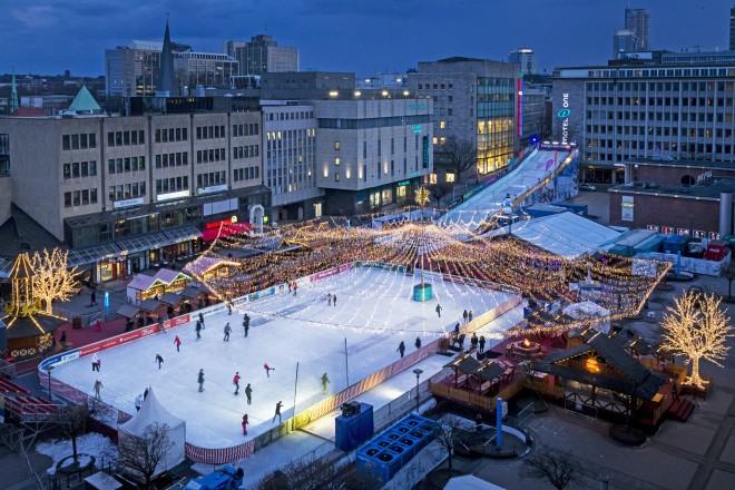 Ein Winter-Wunderland mitten in der City: ESSEN ON ICE.