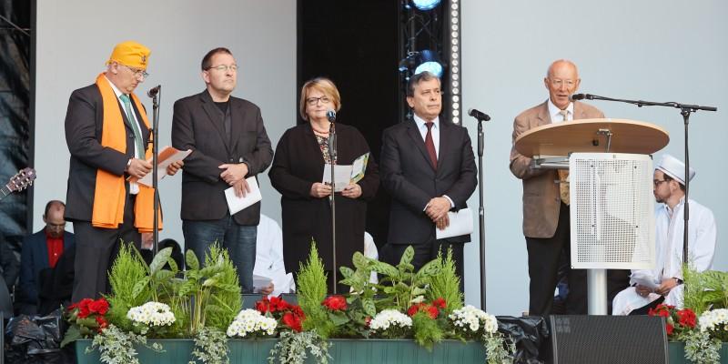 Interreligiöser Friedensgruß beim NRW-Tag mit ESSEN ORIGINAL 2018