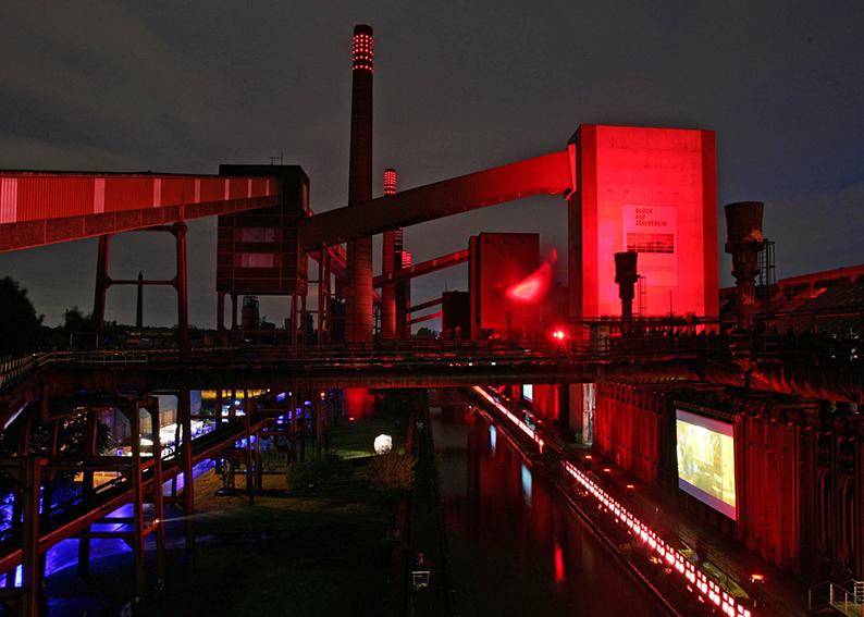 Foto: Kokerei Zollverein bei Nacht