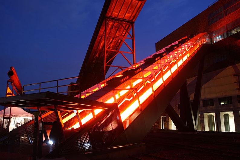 Foto: Treppe zum Ruhr Museum auf Zollverein