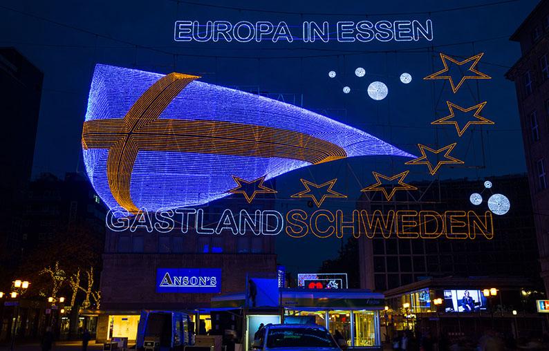 """Foto: Leitmotiv """"Schweden"""" der Lichtwochen 2013"""