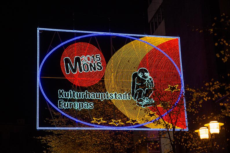 """Foto: Lichtbild """"Mons"""" der Lichtwochen 2015"""