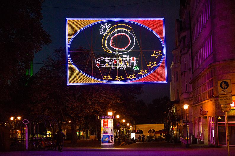 """Foto: Lichtbild """"Touristik"""" der Lichtwochen 2015"""