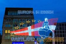 Titelbild der 67. Essener Lichtwochen auf dem Willy-Brandt-Platz