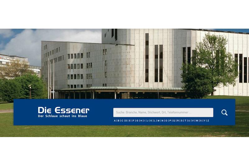Bildschirmansicht Branchenbuch Die Essener