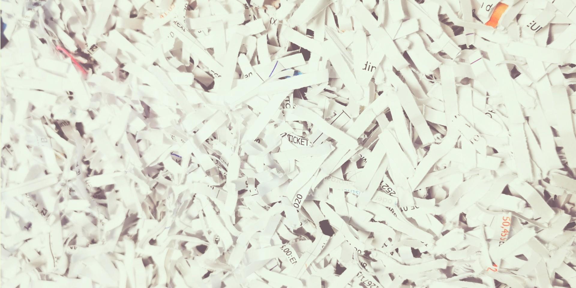 Geschredderte Dokumente