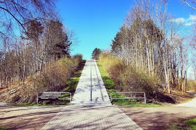 Treppe zur Schurenbachhalde