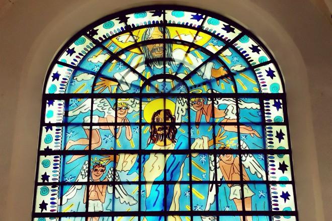 Rizzi-Fenster in der Kreuzeskirche