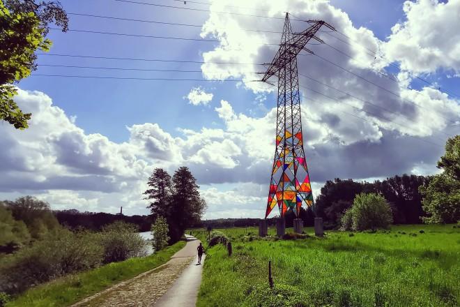 Ruhrtal mit dem Leuchtturm in Hinsel