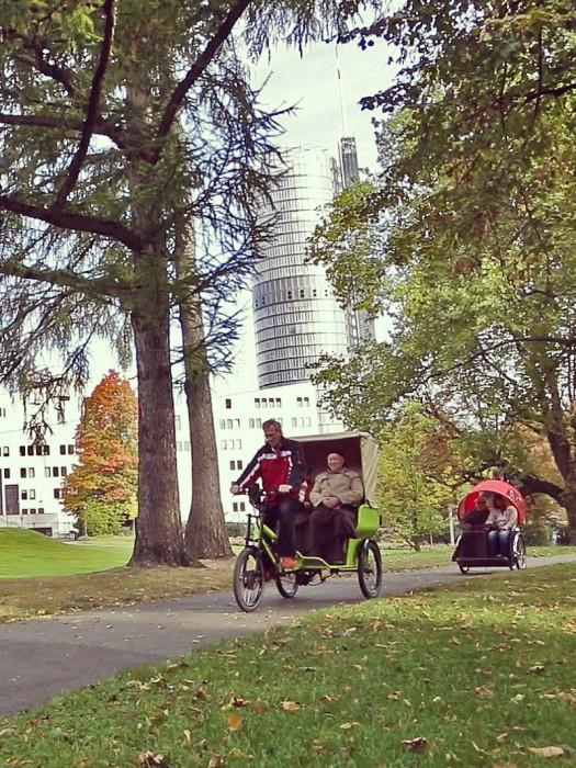 Radeln ohne Alter im Stadtgarten