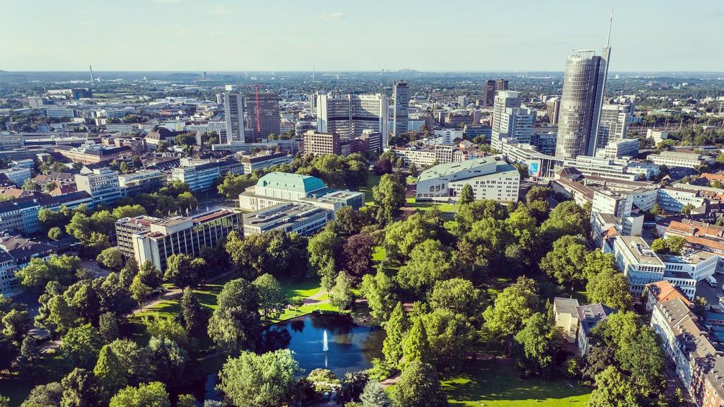 Luftbildaufnahme Stadtgarten