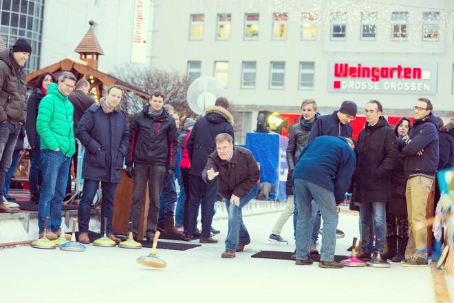 Foto: Impressionen vom Eisstockschießen