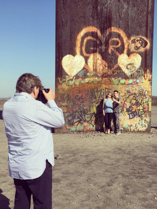 Foto-Shooting fürs Magazin auf der Schurenbachhalde