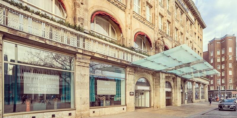 Foto: Außenansicht des Select Hotel Handelshof Essen