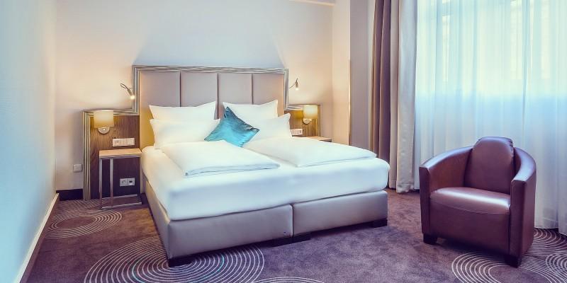 Foto: Doppelzimmer des Select Hotel Handelshof Essen