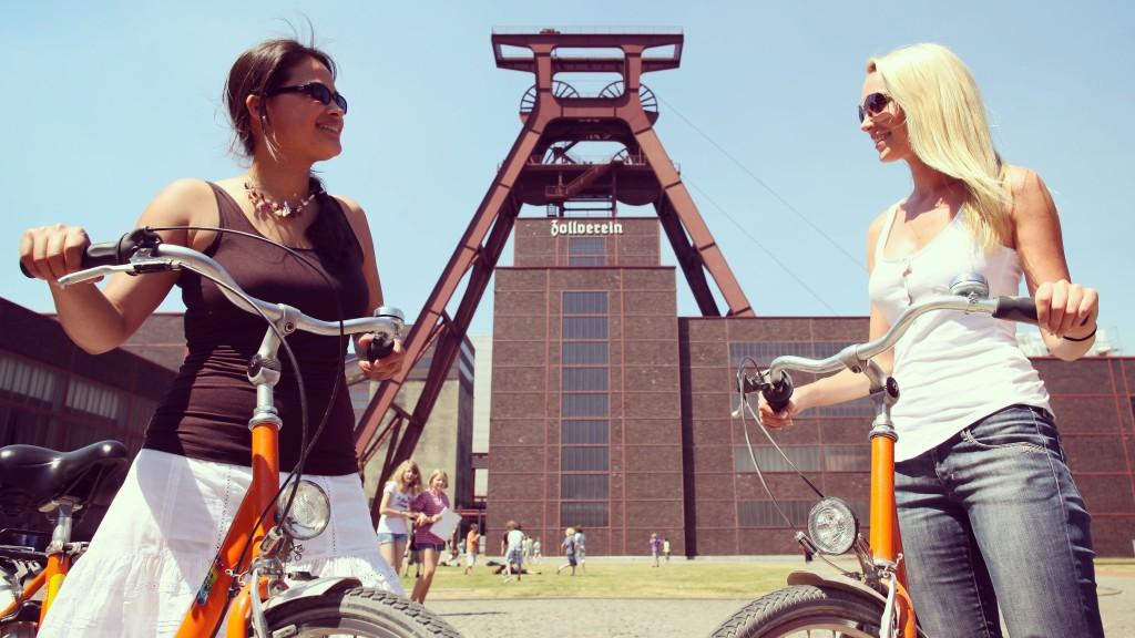 Radfahren auf Zollverein