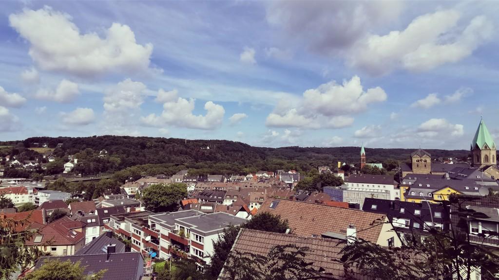 Aussicht an der Stadtmauer in Werden