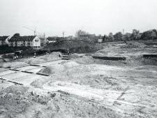 Aufnahme mit Blick auf die Grabung in Überruhr-Hinsel 1966