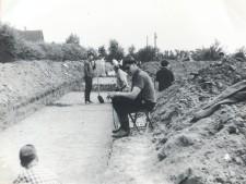 Aufnahme mit Mitarbeitern der Grabung in Überruhr-Hinsel 1966