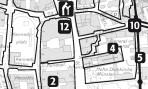 Kartenausschnitt des Plans vom Denkmalpfad