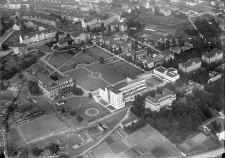 Luftbild der Städtischen Krankenanstalten 1932