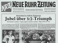 Bild derTitelseite der NRZ vom 5. Juli 1954