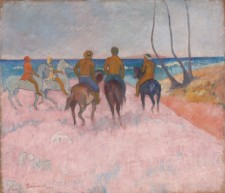 Foto Paul Gauguin, Cavaliers sur la plage, 1902, Museum Folkwang, Essen