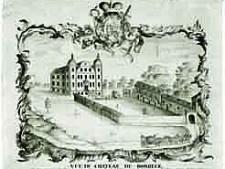 Kupferstich Vue de Chateau de Borbeck / 1756