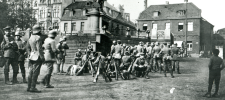 Foto Reichswehrtruppen nach ihrem Einmarsch am 7. April 1920