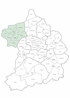 Karte der Stadtteile und Bezirke Essen, Bezirk 4