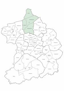Karte der Stadtteile und Bezirke Essen, Bezirk 5