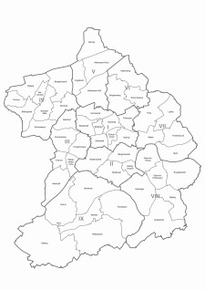 Karte der Stadtteile und Bezirke Essen