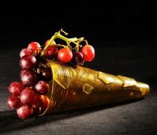 Foto Glas mit Weintrauben gefüllt