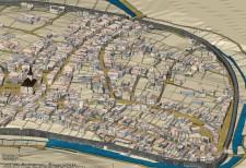 Bild Stadtmauer in Kombination mit der Historischen Karte Stadt Essen 1823