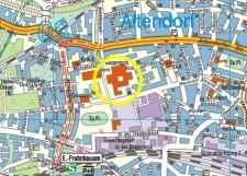 Umgebungskarte des Jugendbibliothekszentrums Altendorf