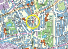 Umgebungskarte der Stadtteilbibliothek Altenessen