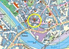 Umgebungskarte der Stadtteilbibliothek Kettwig