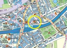 Umgebungskarte der Stadtteilbibliothek Kray