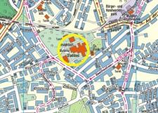 Umgebungskarte des Jugendbibliothekszentrums Schonnebeck