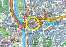 Umgebungskarte der Stadtteilbibliothek Werden
