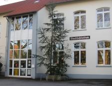 Außenansicht der Stadtteilbibliothek Stadtwald