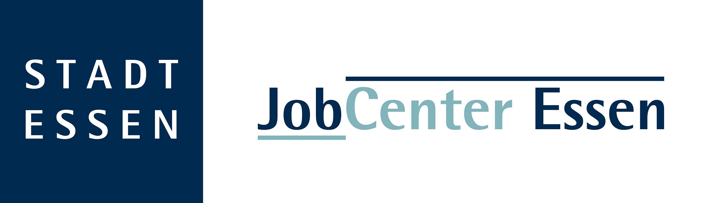 Doppellogo Stadt Essen und JobCenter Essen