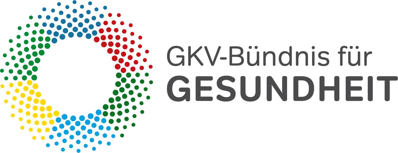 Ein buntes Kreis-Logo repräsentiert den Bund zwischen den Krankenkassen, den Jobcentern, der Bundesagentur für Arbeit und den kommunalen Spitzenverbänden für das Modellprojekt zur Verzahnung von Arbeits- und Gesundheitsförderung.