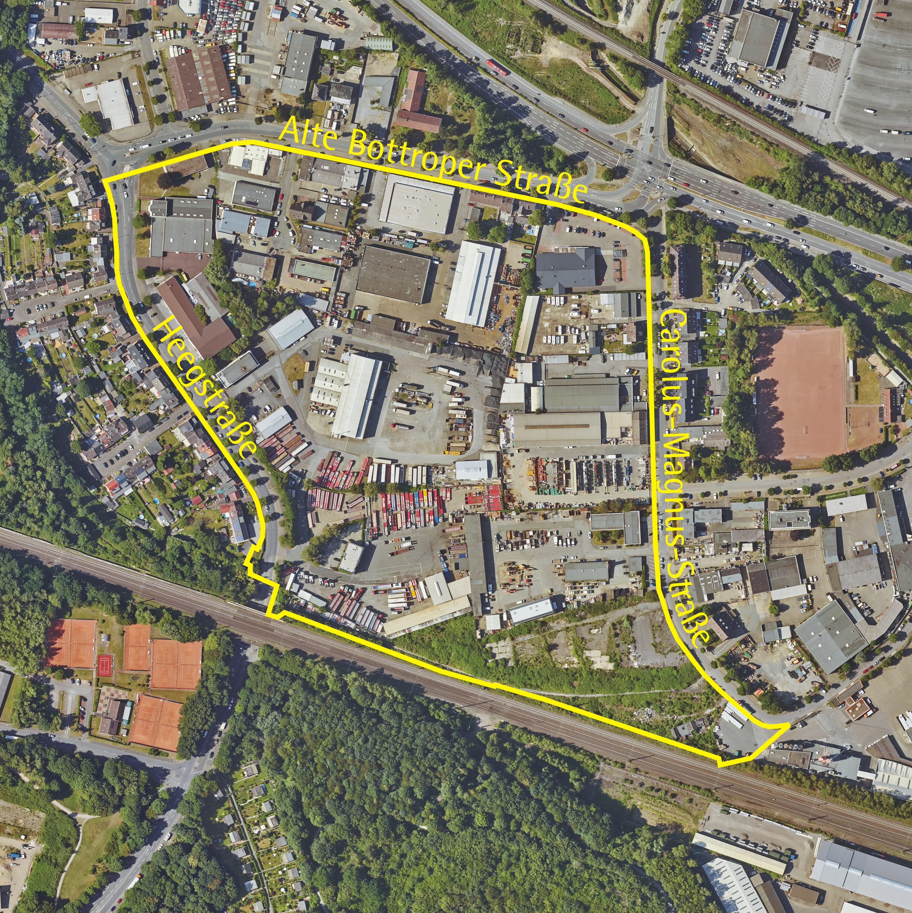 Luftbild: Alte Bottroper Straße/Heegstraße